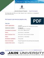 PhD 2014 - Prospectus