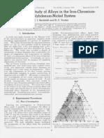 Phase Diagram Study of Alloys in Iron Carbon Chromium Mo-Ni