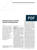 External Sector Growth and the Exchange Rate