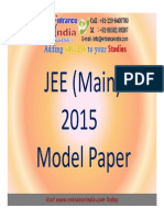 JEE Main 2015 Model Paper by Entranceindia