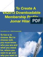 How to Create a VA2013 Downloadale Membership Profile PDF 2014 by JomarHilario