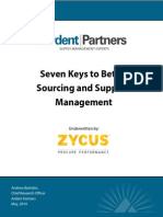Seven Keys ToBetter Sourcing and Supplier Management