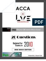 www.acca-live.com | CAT - T1 Recording Financial Transactions Mock Exam