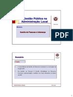 Gestão de Pessoas e Liderança - Slides Profª. Fátima Jorge