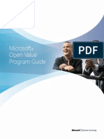 Open Value Program Guide