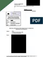 Cosejo Europeo - Documentación Sobre El TTIP (Confidencial) 26.05.2014
