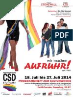 Programmheft zum Christopher Street Day (CSD) in Stuttgart 2014