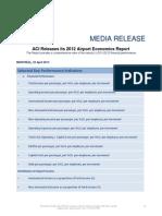 PR 2013 04-23-2012 ACI Economics Report Selected Key Performance Indicators