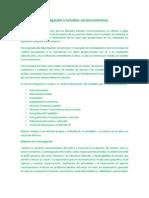Investigación o Estudios Socioeconómicos
