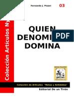 A03 Quien Denomina Domina Pisani