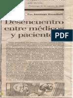 Kovadloff, Santiago - Desencuentro Entre Medicos y Pacientes