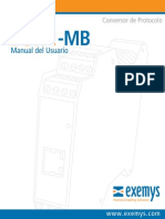 (Serial Server)Exemys EGW1-1C4C-IA-MB Manual Usuario