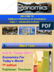 Topic 1 - Introduction to Economics