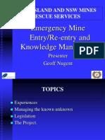 Emergency Mine Reentry