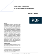 O TEMPO E O ESPAÇO DA SOCIEDADE DA INFORMAÇÃO NO BRASIL