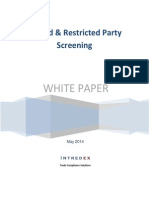 White Paper Restricted and Denied Party Screening