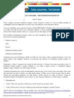 Classificação Contábil - Procedimentos Básicos