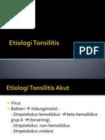Etiologi Tonsilitis