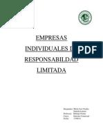 Empresas Individuales de Responsabildad Limitada