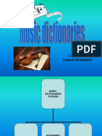 Music Dictionaries