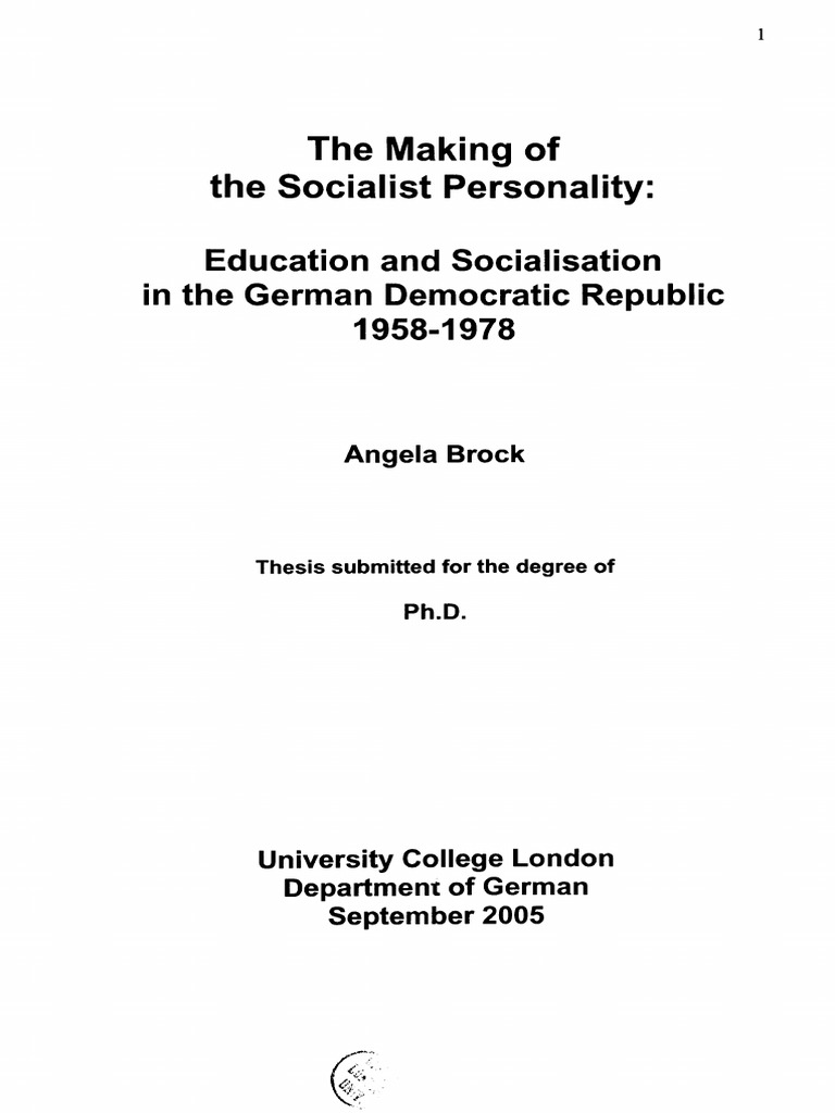 The Making of the Socialist Personality | East Germany | Stasi