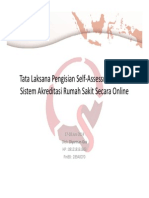 Tata Laksana Pengisian Self Assessment Secara Online - Diyurman Gea, S.kom, MM
