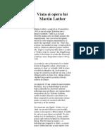 Viata Si Opera Lui Martin Luther