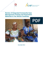 Review of Integrated Community Case Management Training and Supervision Materials in Ten African Countries