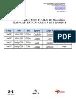 Aragua U-21 Masc 21 y 22-06-14