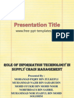 Presentation Supply Chain in Information Technology