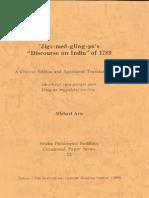 Jigme Lingpa's 1789 Discourse on India