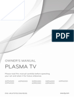 LG Plasma TV - Owner's Manual