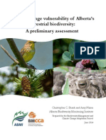 Climate Change Vulnerability of Alberta's Terrestrial Biodiversity
