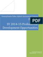 PVAAS Prof Devel Booklet, SY14-15