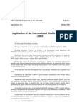 WHO - Application of the International Health Regulations of 2005