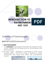 Introduction to Built Environment- Stdntversion