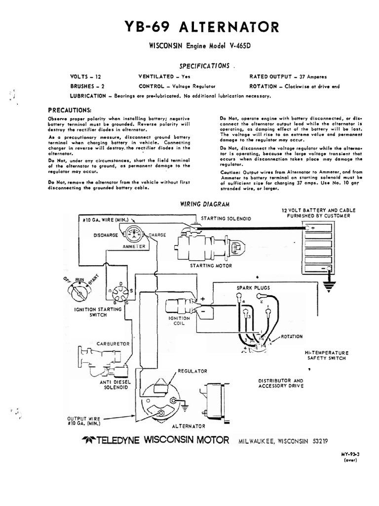 Winpower Wisc v-465d Engine | Ignition System | Distributor | Wisconsin Engine Alternator Wiring Diagram |  | Scribd