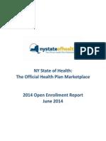 NYSOH Enrollment Report June 2014
