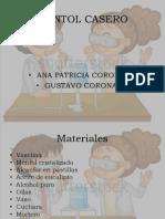 Mentol Casero Diapositivas