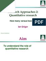 Lecture 5 - Quantitative Research