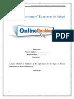 assessingcustomerseagernesstoadoptonlinebanking-130719183818-phpapp01