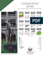 Calendario escolar 2014 – 2015
