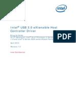 Intel USB 3.0 XHC Driver - Bring Up Guide r1.0