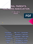 General Parents-teachers Association Report .......