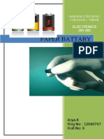 Paper Battery Full Seminar Report ssm