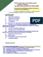 Codul Fiscal Cu Normele Valabil in 2013
