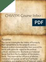 CHW3M intro