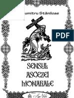Dumitru Staniloae Sensul Ascezei Monahale