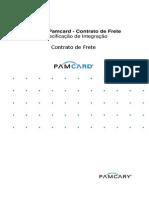 Sistema Pamcard - Especificação Integração - Contrato de Frete