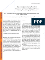 Comparative Pharmacokinetics of RecombinantErythropoietin Administered by TheIntravenous,Subcutaneous, And Intraperitoneal Routes in ContinuousAmbulatory Peritoneal Dialysis (CAPD) Patients